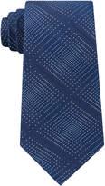 Kenneth Cole Reaction Men's Optical Texture Plaid Silk Tie