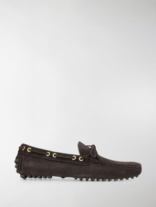 Car Shoe Laced Suede Loafers