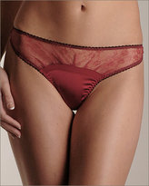 Fleur of England Private Silk Lace Thong