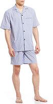 Roundtree & Yorke Striped Short-Sleeve Shirt & Shorts Pajama Set