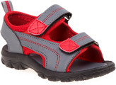 Rugged Bear Boys' Sandals Grey/ - Gray & Red Sandal - Boys
