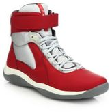 Prada Velcro-Strap High-Top Sneakers