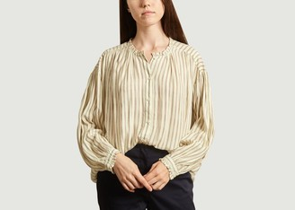 Swildens Crystals Striped Shirt - 36