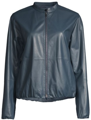 Lafayette 148 New York Rutherford Lightweight Leather Jacket