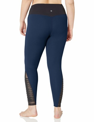 Core 10 Amazon Brand Women's Plus Size Icon Series 'Fierce Pleats' Yoga 7/8 Crop Legging-24