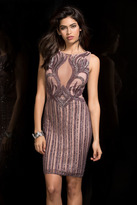 Scala 48753 Intricate Illusions Beaded Cocktail Dress