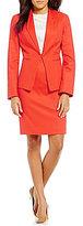 John Meyer Stretch Cotton 2-Piece Skirt Suit