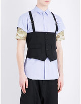 Comme Des Garcons Shirt Single-breasted Cotton Vest