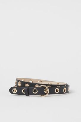 H&M Grommet-detail Belt - Black