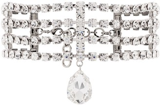 Alessandra Rich Crystal-Embellished Choker Necklace
