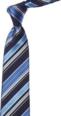 Canali Blue Stripe Silk Tie