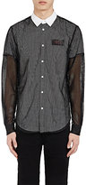 Hood by Air MEN'S LOGO LAYERED BUTTON-FRONT SHIRT SIZE L