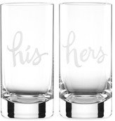 Kate Spade Set of 2 Two of a Kind Highball Glasses