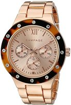 Rampage Women's 'Tortoise Dial Band' Quartz Metal and Alloy Automatic Watch, Color:Rose Gold-Toned (Model: RP1123RGTO)
