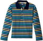 Toobydoo The Oscar Long Sleeve Polo Shirt (Toddler/Little Kids/Big Kids)