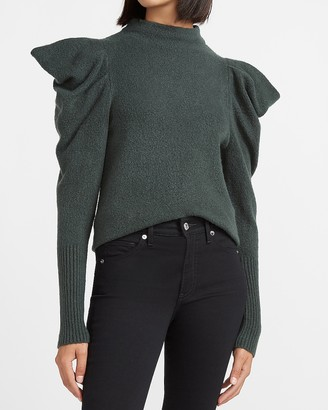 Express Puff Sleeve Mock Neck Sweater
