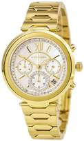 Wittnauer WN4032 Women's Taylor MOP Dial Yellow Gold Tone Steel Chronograph Watch