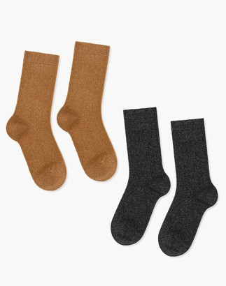 Madewell Hansel from Basel Two-Pack Italia Cashmere Blend Cozy Ribbed Socks