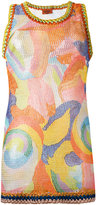 Missoni patterned knit tank top - women - Polyester/Rayon - 42