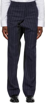 Maison Margiela Blue Striped Deconstructed Trousers