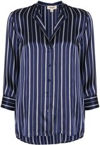 L'Agence silk striped shift blouse