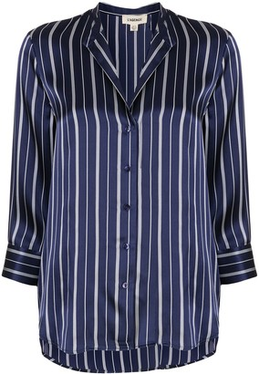L'Agence Silk Striped Shift Blouse