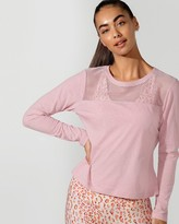 Lorna Jane Cover Up Cropped Long Sleeve Top