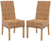 Safavieh Sanibel Mango Wood Side Chair in Brown (Set of 2)