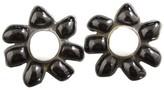 Chanel Pottery Flower Motif Clip-On Earrings
