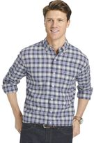Izod Big & Tall Classic-Fit Plaid Button-Down Shirt