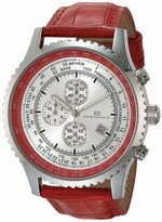 Thumbnail for your product : Oceanaut Men's Actuator Stainless Steel Quartz Leather Strap Red 24 Casual Watch (Model: OC0313)