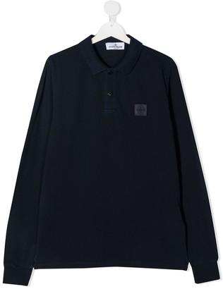 Stone Island Junior TEEN logo patch polo shirt