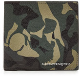 Alexander McQueen Camouflage Print Leather Wallet