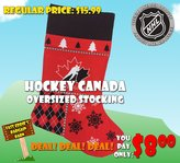 Hunter Hockey Canada Oversized Holiday Stocking