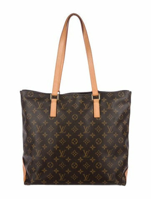 Louis Vuitton Monogram Cabas Alto Tote Brown