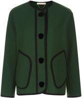Vanessa Bruno Green Wool Buttoned Figaro Jacket