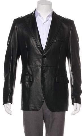 Dolce & Gabbana Leather Sport Coat