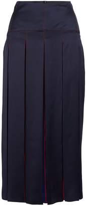 Sportmax Bea pleated silk skirt