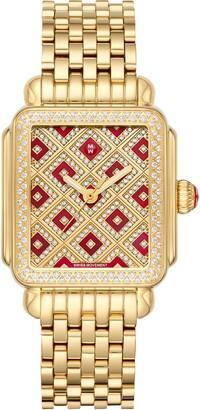 Michele Deco Diamond Watch Head & Bracelet, 33mm x 35mm