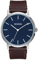 Nixon Porter Leather with Navy Dial