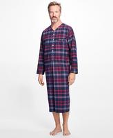 Brooks Brothers Three-Color Plaid Flannel Nightshirt