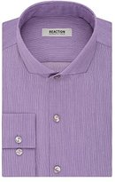 Kenneth Cole Reaction Men's Slim-Fit Thin Stripe Spread Collar Dress Shirt