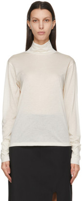 Studio Nicholson Off-White Silk Jersey Turtleneck
