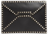 Valentino Rockstud Untitled #12 Leather Pouch