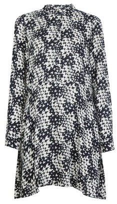 Dorothy Perkins Womens Monochrome Dogtooth Print Swing Mini Dress