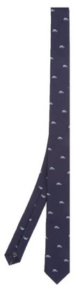 Paul Smith Car-jacquard Silk Tie - Navy