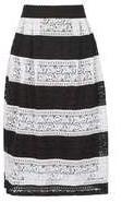Dorothy Perkins Womens *Izabel London Multi Striped Lace Midi Skirt- Multi