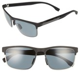 BOSS Men's 58Mm Polarized Sunglasses - Black Carbon