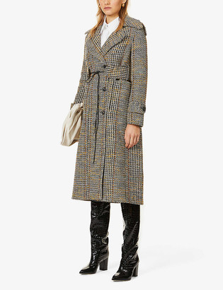 Victoria Beckham Belted wool-blend tweed coat