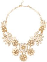 Carolee Nassau Night Open Work Embellished Bib Necklace